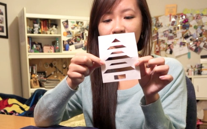 Picture of Create Christmas Tree Cut Out Template