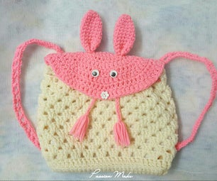 Crochet Bunny Backpack