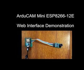 ArduCAM Mini ESP8266 Web Camera