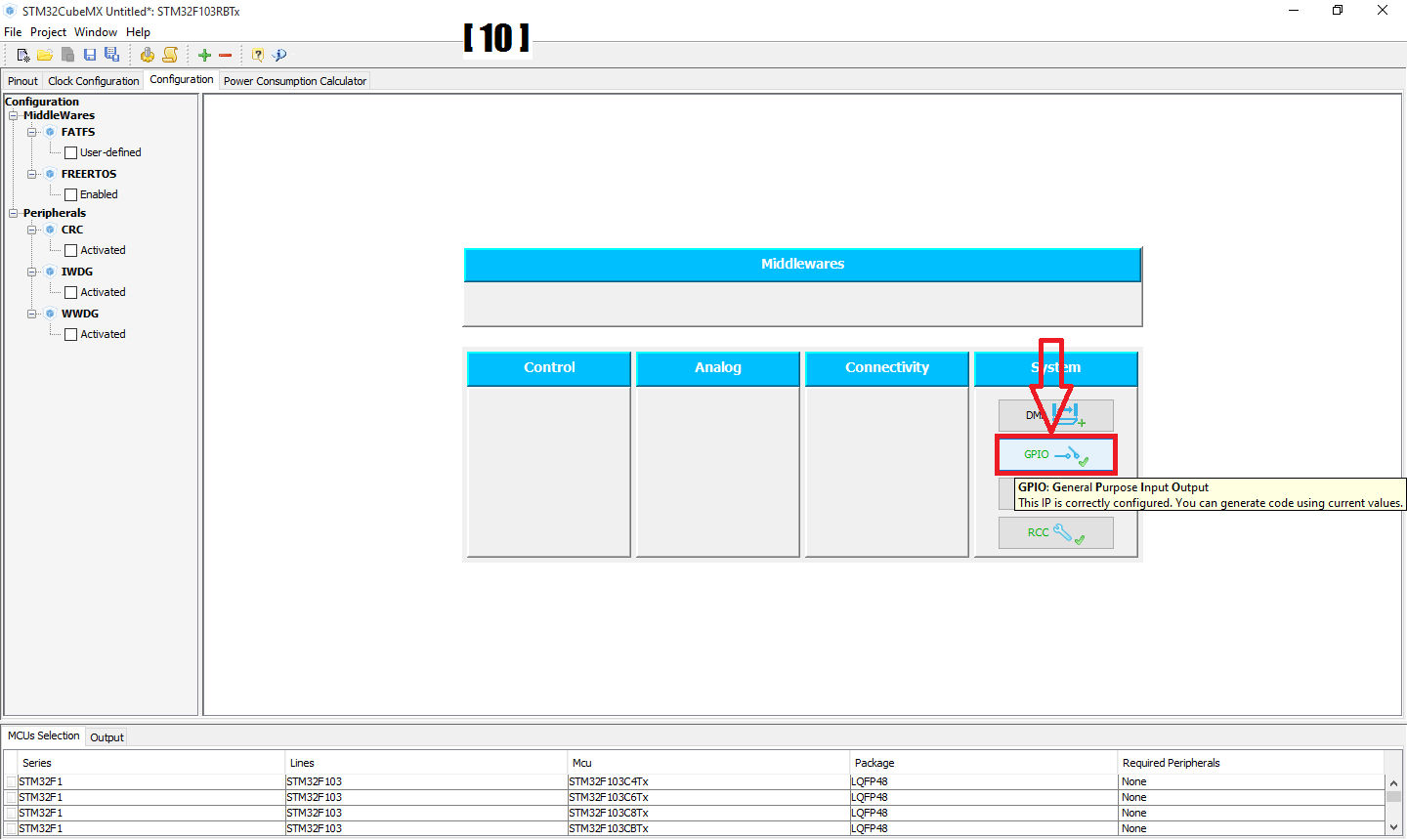 Picture of Step 1.2: Setting Up LED IN STM32CubeMX: