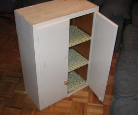 Child's Desk from an Old Kitchen Cabinet