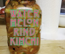 Watermelon Rind Kimchi