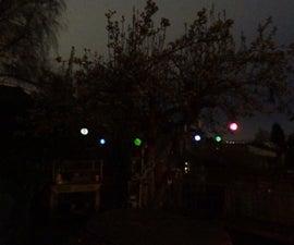 Upcycled Hanging RGB LED Solar Yard Lights