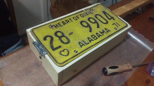 Attach License Plate to Box