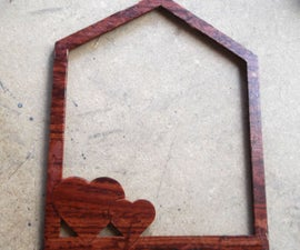 FAUX WOODEN PICTURE FRAME