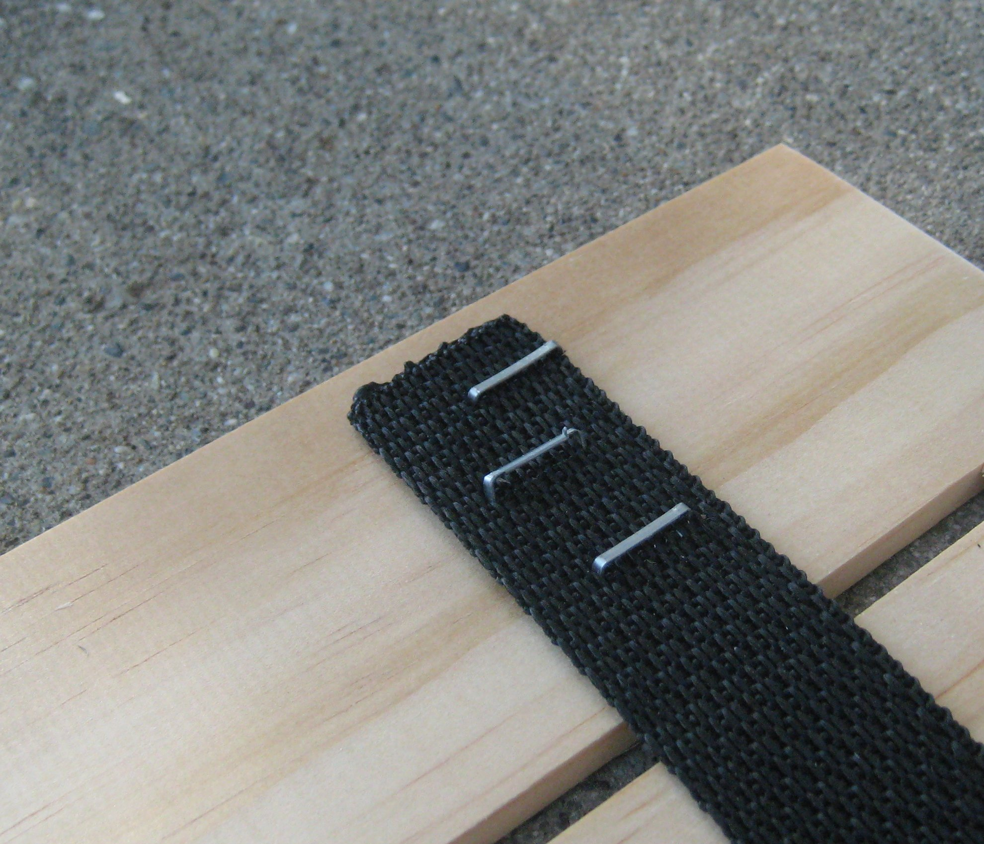 Picture of Staple the Belt to the Planks