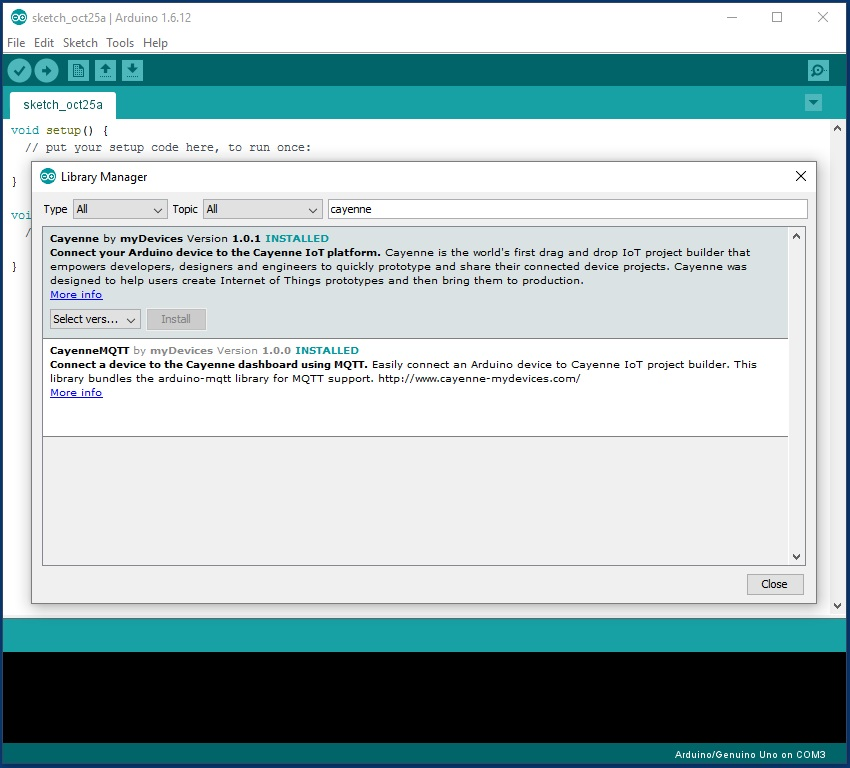 Picture of Add Cayenne Library to Your Arduino IDE