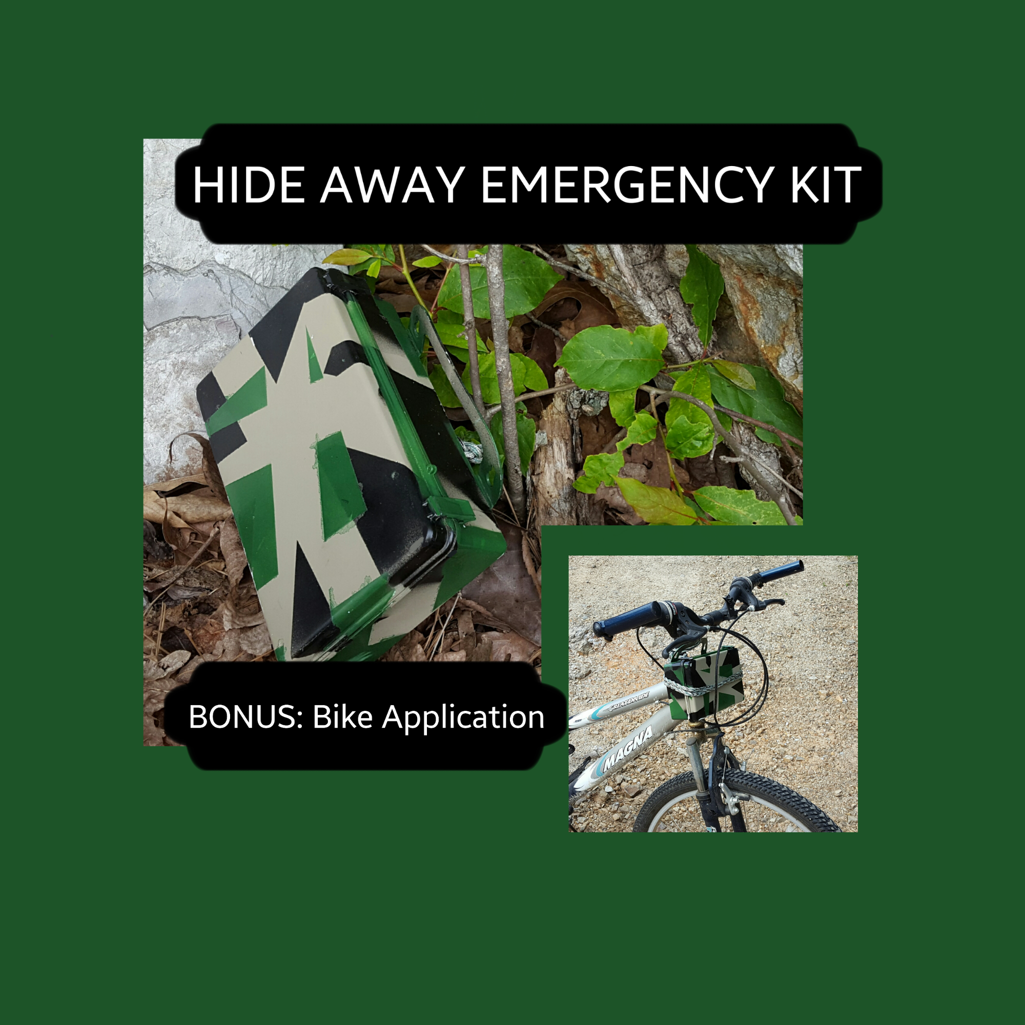 Picture of Hide Away Emergency Kit; Mountain Bike Application Included
