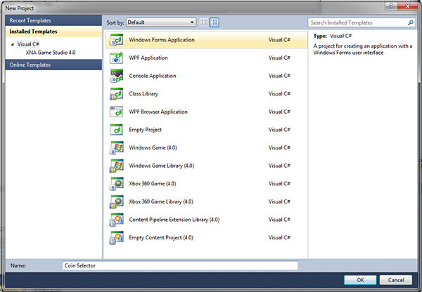 Picture of Basic Windows Form Application