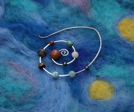 Solar System Spiral Earring