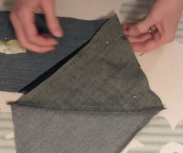 Pin, Sew Your Triangles, Iron Seam Allowances Up