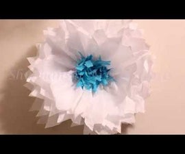 DIY Giant Tissue Paper Flower for Frozen Party Theme | Multi Color Tissue Paper Flower