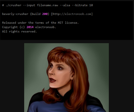 Beverly-Crusher: bit crushing. 1-bit Arduino music.