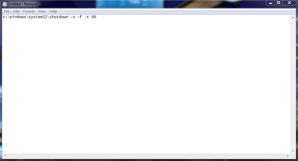 Picture of Create a Batch File