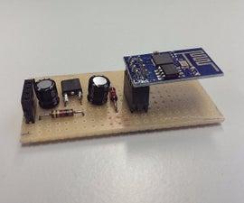 Simple 5V breakout board for ESP-01 (ESP8622)