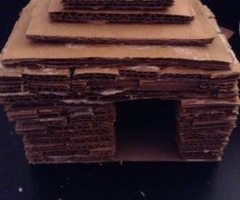 """Cardboard """"Brick"""" House For Small Pets"""