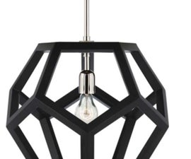 Dodecahedron Light Fixture
