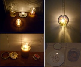 Making oil lamps and candles for free