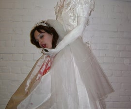 Headless Bride from Duct Tape