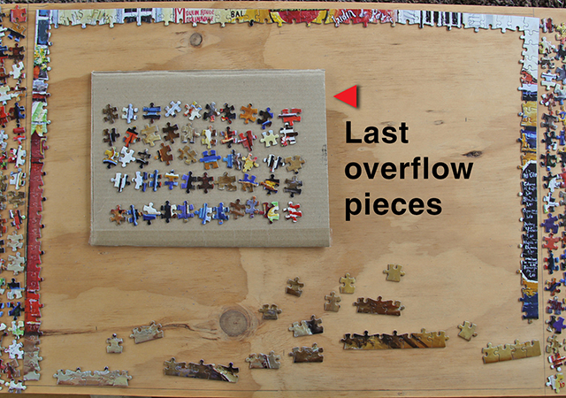 Picture of Put Any Pieces That Don't Fit on Your Work Areas on a Piece of Cardboard.