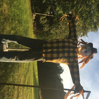 Life-Sized Scarecrow With Stand