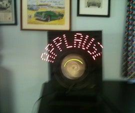 "Arduino + LEDs + fan = POV ""APPLAUSE"" sign"