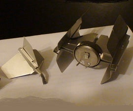Darth Vader's TIE Advanced X1 made from Floppy Disks!