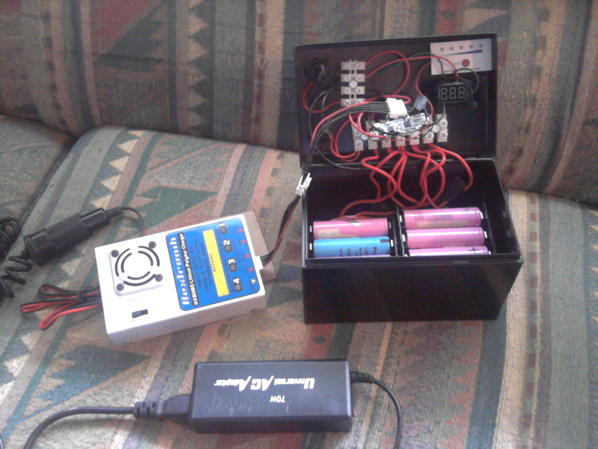 Make an Inexpensive Lithium-Ion Battery Pack: 10 Steps (with ... V Force Charger Wiring Diagram V on