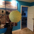 Lamp made of post it notes