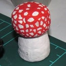 Fly agaric AKA the Mario Mushroom from a carbonated wine cork