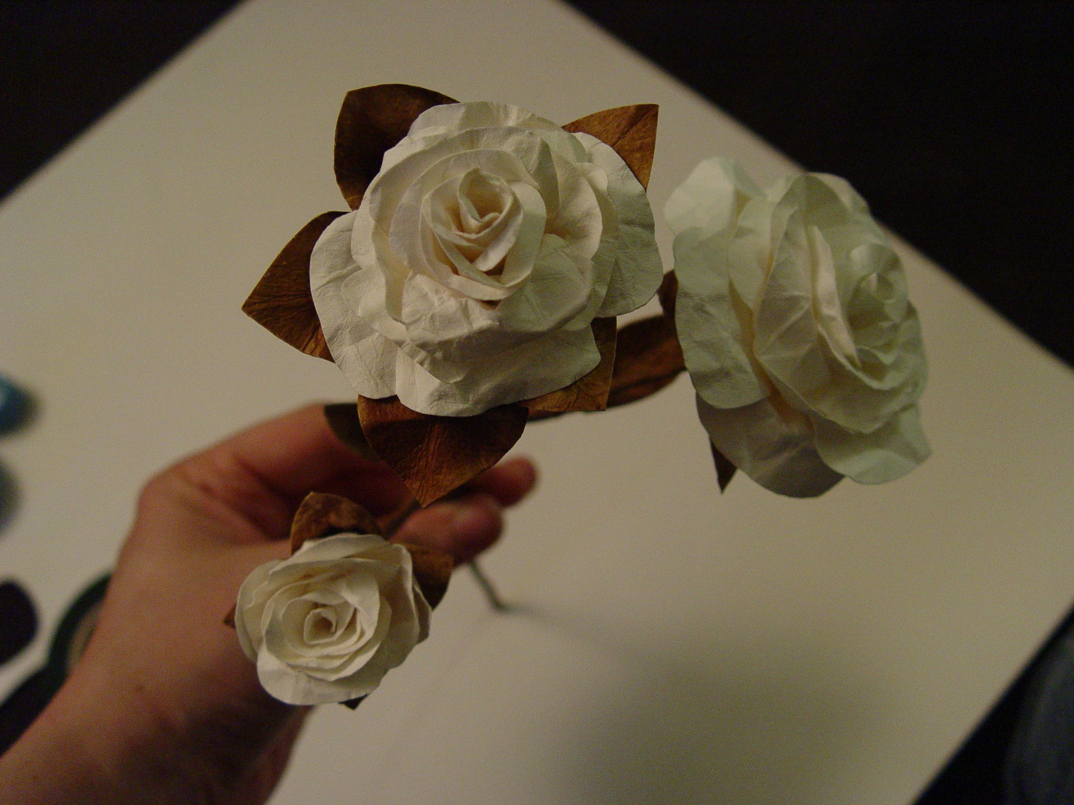 Simple Paper Flowers 7 Steps With Pictures Rose Flower Diagram Crochet 4
