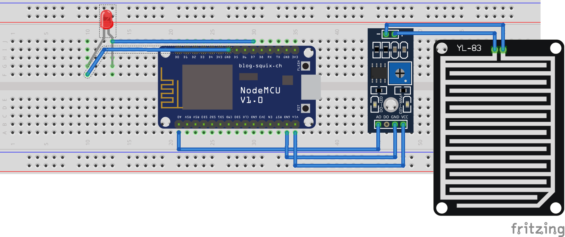 Picture of Interface Raindrop Sensor to NodeMcu| for Beginner