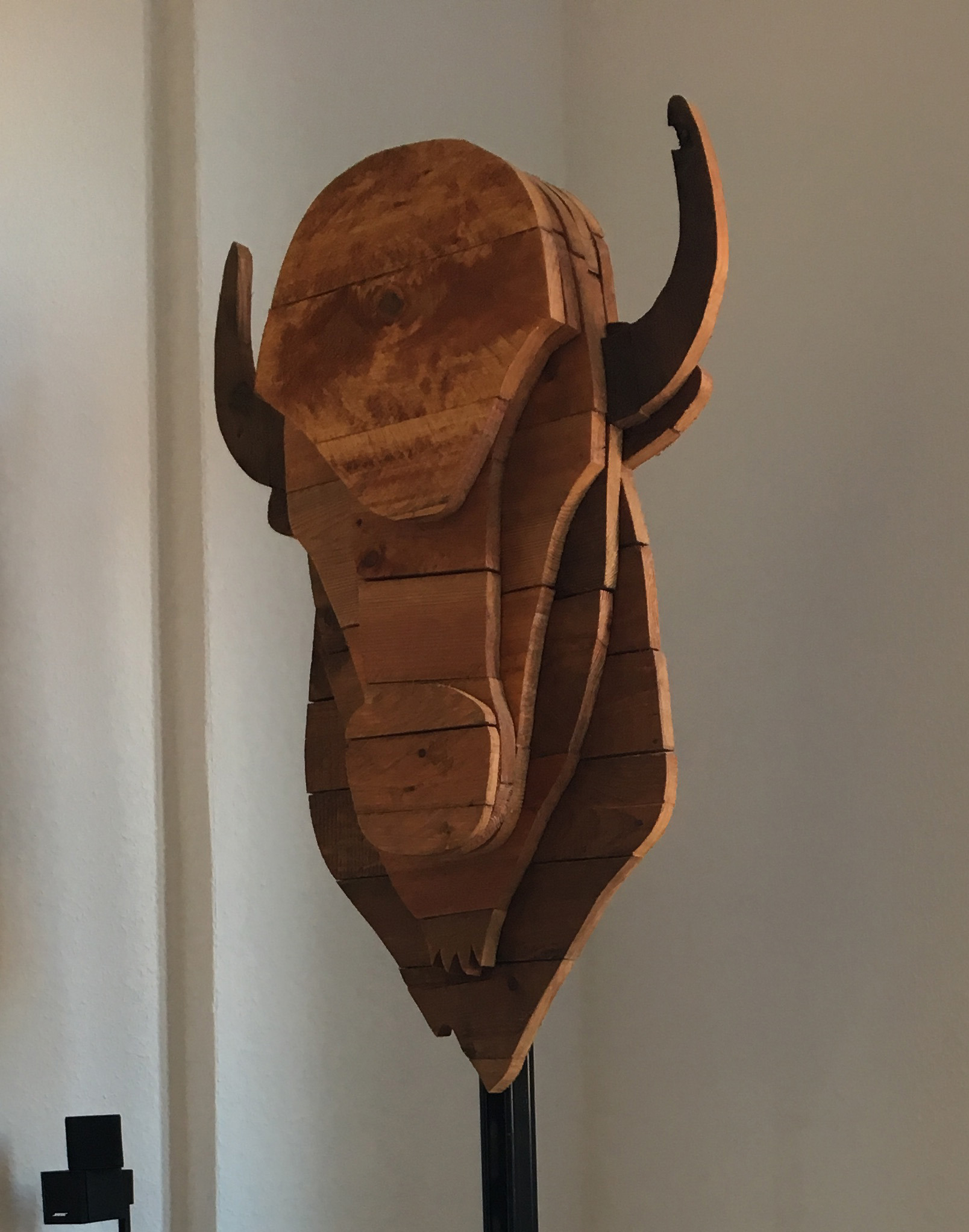 Picture of Reclaimed Wood Bison Head