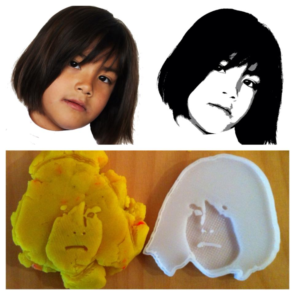 Picture of 3D Printed Cookie Cutter / Playdoh Mold From Photo