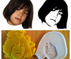 3D Printed Cookie Cutter / Playdoh Mold from photo