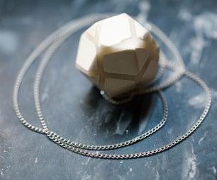 Minimalist Polymer Clay Pendant