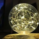 Rustic LED Log Lamp