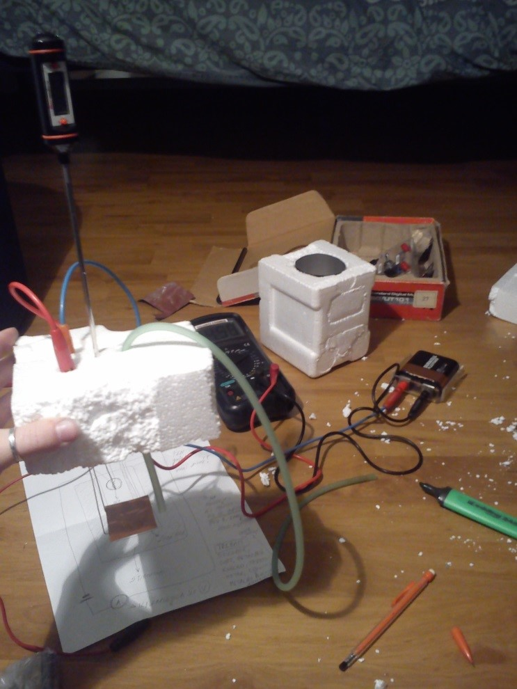Picture of Making the Calorimeter