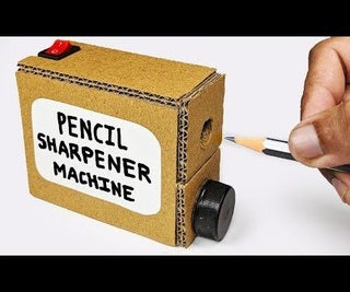 How to Make PENCIL Sharpener MACHINE From Cardboard DIY at Home/SCHOOL