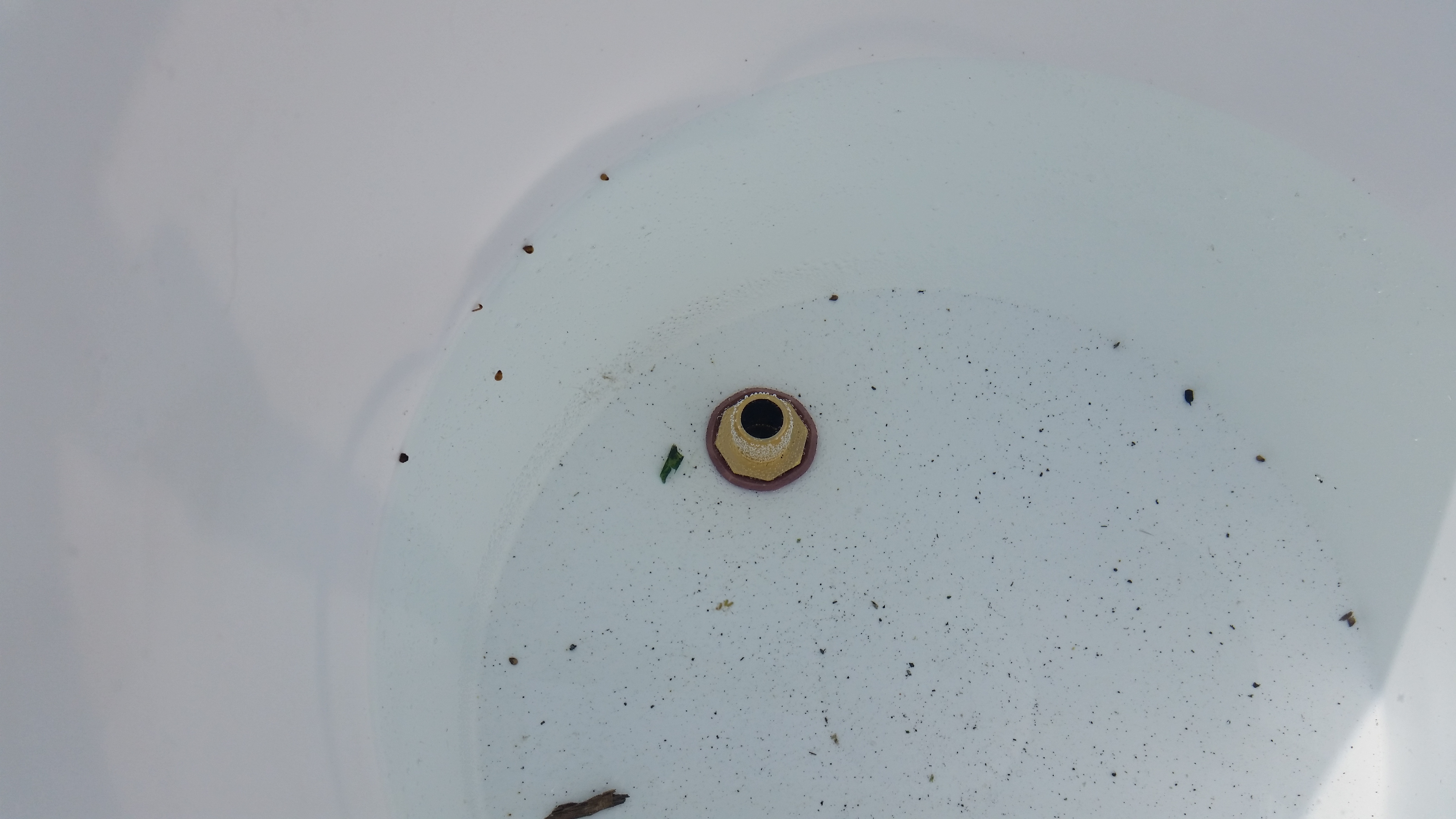"""Picture of Drill 1"""" Hole for Garden Hose Attachment & Vinyl Hose."""