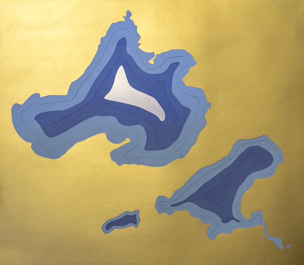 Picture of Lasercut Bathymetric Map