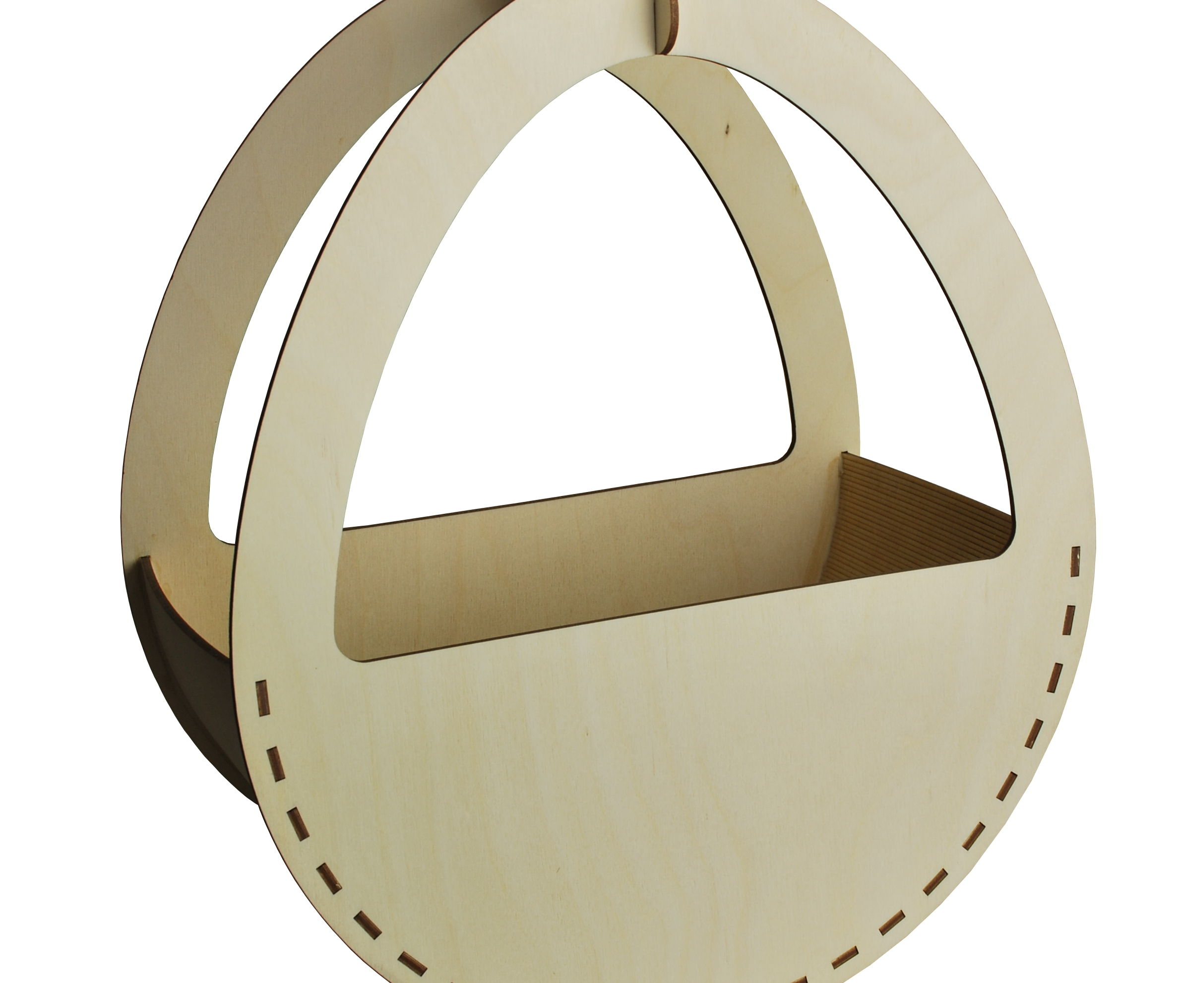 Curved Laser Cut Easter Basket