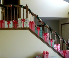 """""""Presents"""" Christmas Staircase Decorations"""