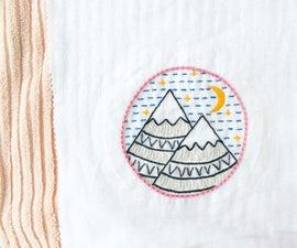 洗涤,干燥和阻塞刺绣