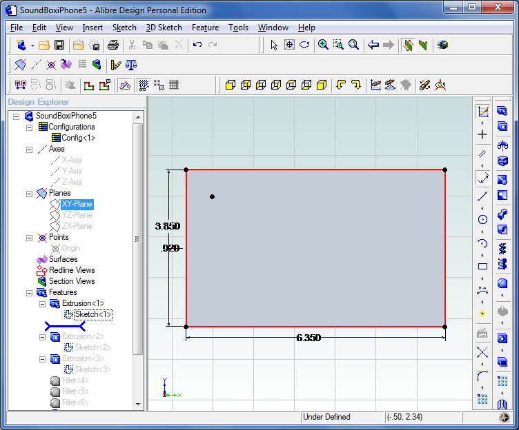 Picture of 3D Modelling Step 1
