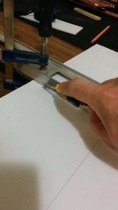 Cutting the Plexiglass and Backing Material