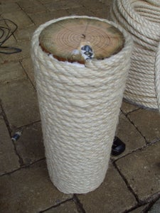 Wrapping the Poles With Sisal Rope