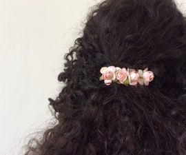 Realistic Flowers Hair Clip