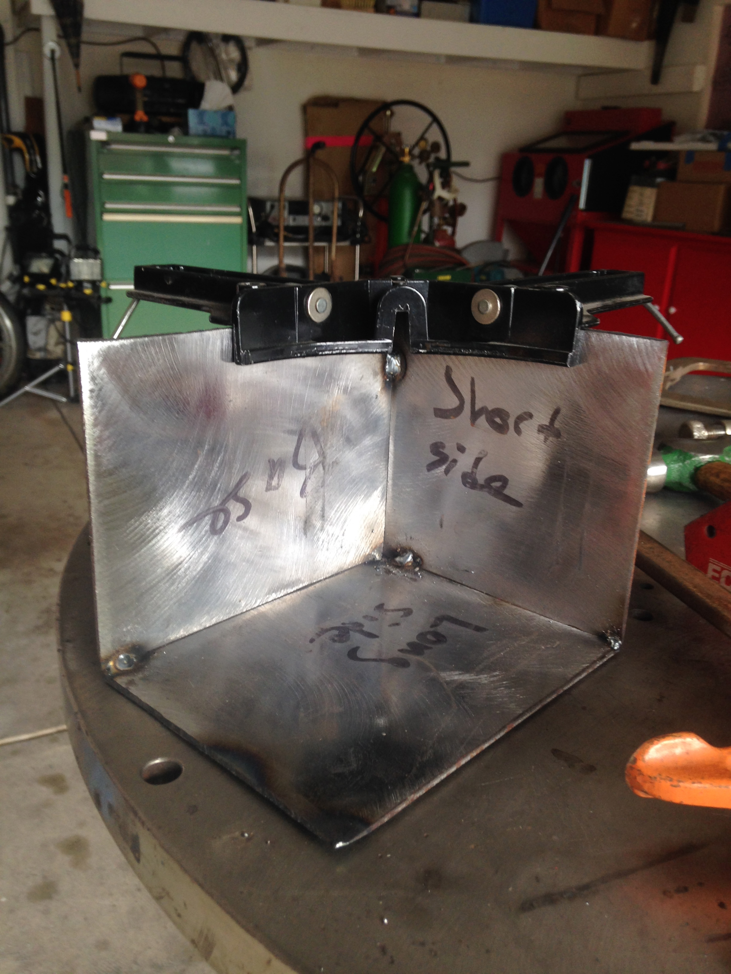 Picture of Line Up the Base and Side and Make Tack Welds