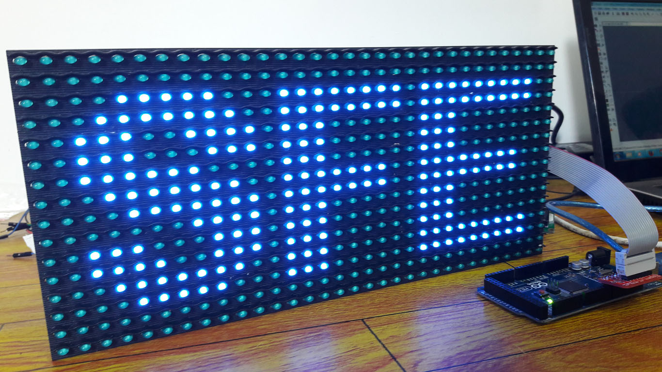 Picture of Display Text at P10 LED Display Using Arduino